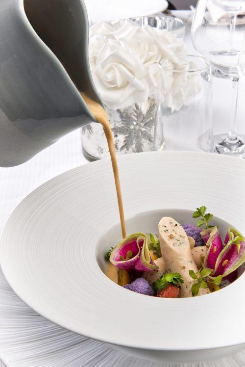 Mini boudin blanc de homard, sauce homardine