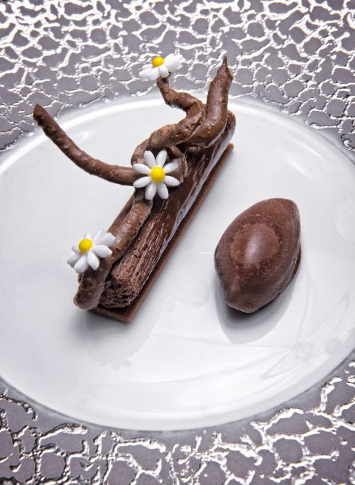 Bâton chocolat caramel sorbet cacao